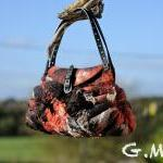 Felted Bag - Wool Hand Bag..