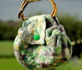 Felted Bag - Wool Hand Bags , Felted Wool Purse,Wet Felted Bags.